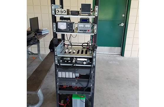 Radio equipment used in the ARISS project